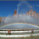 Arco Iris en la Fuente de la Plaza de España