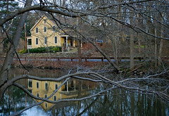 House on the Canal (BehindBlueEyes) Tags: reflection canal newjersey drcanal nj somersetcounty griggstown