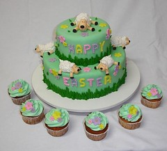 Easter Sheeps (*Ded's*) Tags: cake easter sheep sugar pscoa bolo aucar fondant ovelha