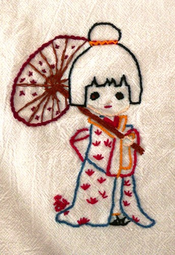 Geisha Embroidery