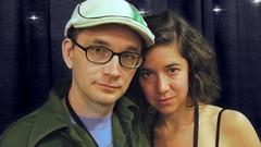 David Redmon and Ashley Sabin (kino-eye) Tags: portrait people boston documentary interview filmmaker filmfestival intimidad iffboston iffb artfilmtalk davidredmon ashleysabin iffb2008