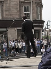 Street Opera (jakeybob) Tags: street music glasgow streettheatre