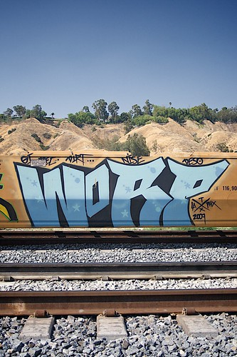 Train Grafiti, Redlands, CA