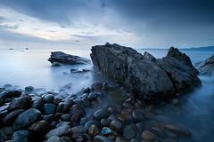 Sabang - Philippines (Auré from Paris) Tags: ocean longexposure sunset seascape rocks southeastasia philippines palawan markii chinasea auré nd8filter canoneos5dmkii