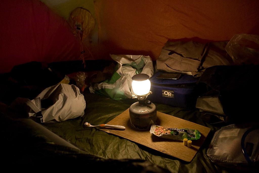 Lunt, varmt og lyst i teltet