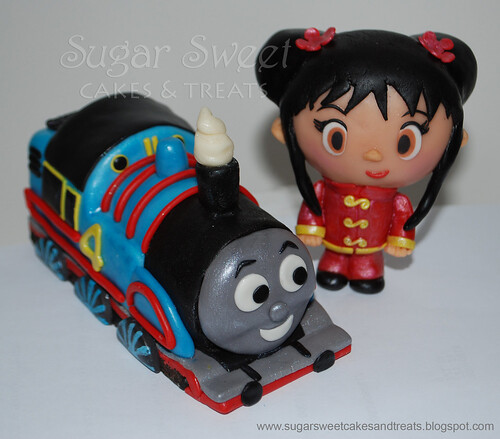 Kai-Lan and Thomas the Train Cake Toppers