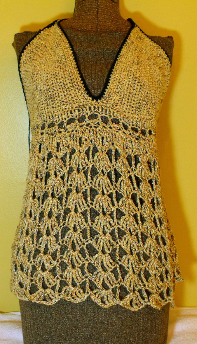 Free Crochet Pattern For Baby Tank Top : CROCHETED FREE PATTERN SUMMER TOP - Crochet and Knitting ...