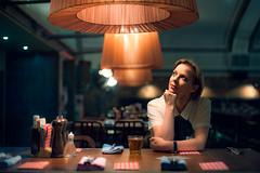 Cally (TGKW) Tags: portrait people woman loft bar night table lights pub opera drink glasgow scottish nightlife director cally 3609