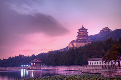 Evening at the Summer Palace (Stuck in Customs) Tags: china city travel sky color reflection history water architecture clouds digital watercolor painting temple photography evening blog high october asia republic purple dynamic stuck dusk beijing violet palace historic unesco east photoblog wash software processing metropolis imaging  summerpalace prc northern range hdr tutorial trey peking travelblog customs worldheritage 2010 municipality  bijng  ratcliff yhyun northernchina hdrtutorial stuckincustoms treyratcliff photographyblog peoplesrepublicofchina stuckincustomscom nikond3x gardensofnurturedharmony gardenofclearripples