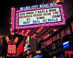 Memphis - Beale Street (zorro1945) Tags: music usa beer sign bar memphis tennessee blues brightlights neonsign bealestreet bluesclub bluescitycafe bluescitybandbox
