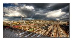 tracks@zurich (Toni_V) Tags: sky topv111 clouds d50 schweiz switzerland europe zurich tracks trains sbb zürich soe hdr sigma1020mm photomatix güterbahnhof topvaa 3exp toniv shieldofexcellence ©toniv