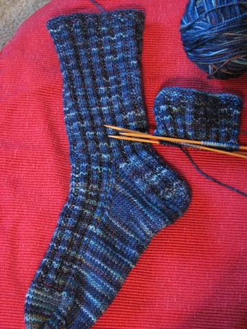 Hercules Garter Rib Sock Progress