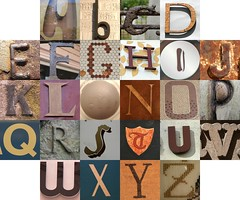 Brown letters