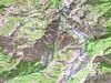 Carte du massif du Renosu (Renoso) avec les itinéraires depuis Bastelica et le Val d'Ese