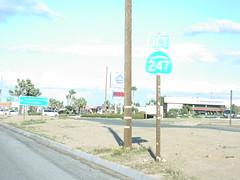 CA-62 East Approaching CA-247 North (sagebrushgis) Tags: california sign shield yuccavalley ca247 ca62 californiastatehighway