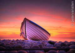 oh what a night (petervanallen) Tags: pink sunset seascape beach night portland landscape boat bravo dorset chesil magicdonkey outstandingshots abigfave anawesomeshot
