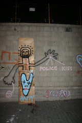 KISS THE POLICE (FollowYourArt) Tags: streetart screw telaviv freeart fya  deathtocontemporaryart followyourart freehappiness
