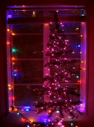 The Purple Tinsel Tree