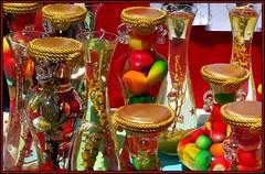 Coloured jars (Lady Jayne ~) Tags: shopping newcastle colours markets fair darbystreet jars photofaceoffwinner photofaceoffplatinum pfogold feb08pfobrackets