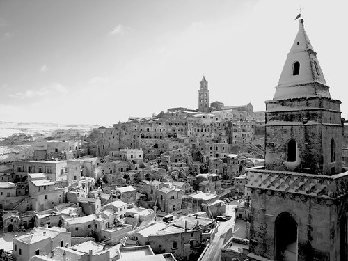 Matera: Neve in Black & White