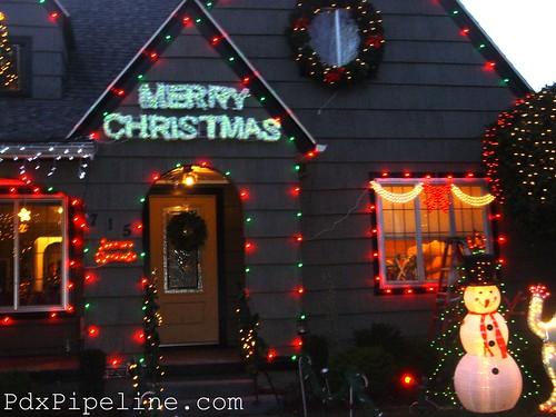 Holiday Lights, Se Peacock Lane, Portland, Or, 97214