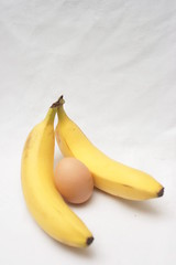Two Bananas and an egg (Moochin Photoman) Tags: yellow virginbirth 2bananasandanegg itisxmasafterall adventuresonthetabletop