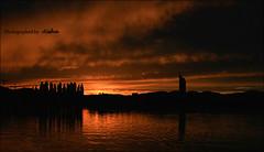Austria 2007 ([Aisha}) Tags: vienna sunset summer orange tower river austria europe 2007