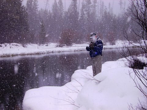 Michael fishing on the Fall River in Bend, Oregon