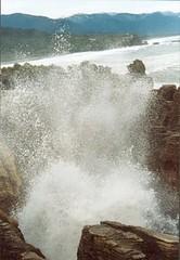 Pancake rocks, New Zealand (Miekie D) Tags: newzealand rocks blowhole pancake