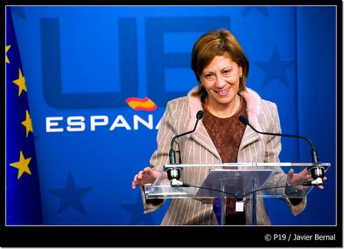Elena Espinosa en el Consejo de Agricultura de la UE. © Bernal Revert, 2008