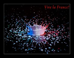 """Vive la France!"" (Bald Monk) Tags: black france color colour robert photography gold la milk drops vive acrylic colours photographer bald monk competition rob splash tunstall bhcc anawesomeshot superbmasterpiece"