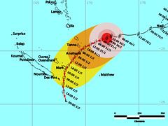 Tropical Cyclone Gene Track and Threat Map