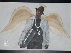 Rest in Peace Dilla (bootsauce) Tags: angel painting paper wings dj boots rip hiphop jaydee jdilla acryilic