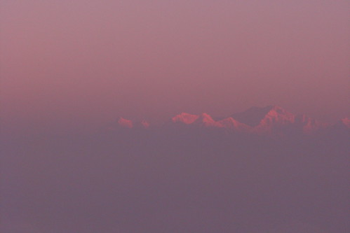 Sunrise touching Kangchenjunga