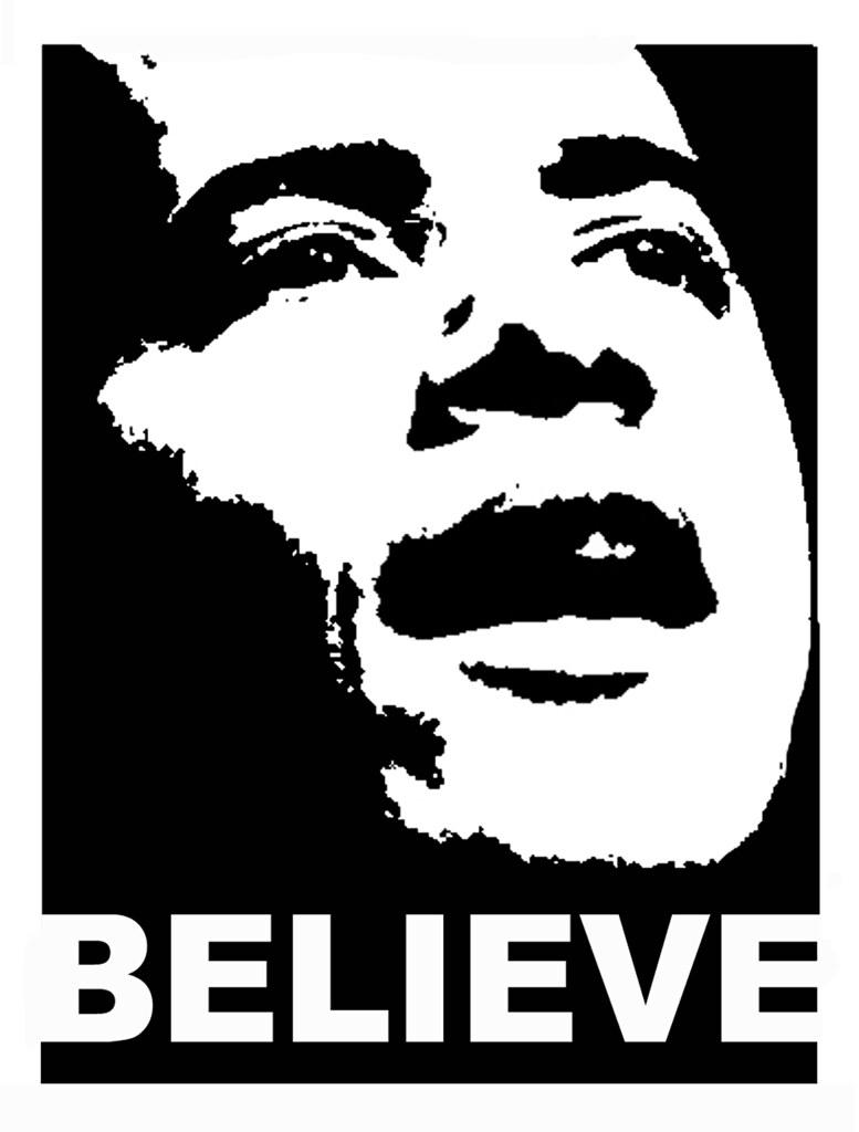 Obama head believe