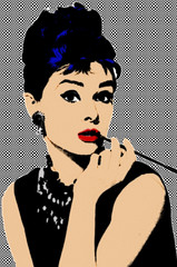AUDREY By SWeeTCHy 2 (SwEeTcHy) Tags: art photoshop stencil audreyhepburn ps pop popart