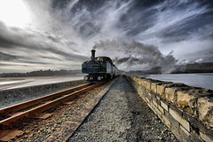 Heading home (abstract_effects) Tags: light sea sky wall clouds train march rail railway loco steam locomotive 2008 ffestiniog wfc porthmadog northwales gogleddcymru mywinners anawesomeshot impressedbeauty abstracteffects theperfectphotographer
