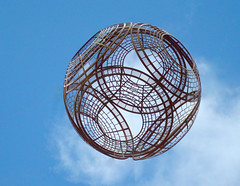 Ball suspended in air (pixiepic's) Tags: sculpture ball manchester damniwishidtakenthat