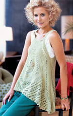 "Crochet Today ""Lacy Swing Top"""