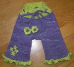 Lavenderwinkle Daisy Ruffle Capris/Longies - Size Small -- 3 Day Auction, use up to 50% HC Cash