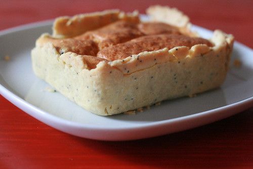 Coin de tarte aux asperges soufflée