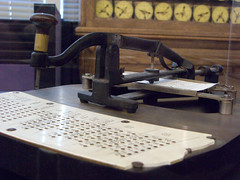 Pantograph Hole Punch (bradmohr) Tags: california places siliconvalley mountainview punch census computerhistorymuseum punchcard pantograph hollerith