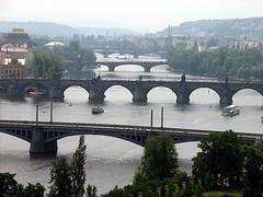 "Prague - Bridges on the Vltava river (Martin Ujlaki-All photos ""copyright Martin Ujlaki"") Tags: bridge river prague praha rivière pont czechrepublic vltava botg ©ujlaki"