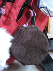 """O-poms covered with leather <a style=""""margin-left:10px; font-size:0.8em;"""" href=""""http://www.flickr.com/photos/45923842@N00/2480475407/"""" target=""""_blank"""">@flickr</a>"""