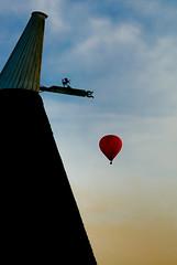 Start of the Kent Balloon Season (nickphotos) Tags: horse hot silhouette evening oast kent air balloon virgin sail roundel cowl
