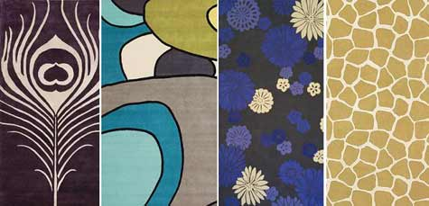 Captivating [image Above, Left To Right: Feather Rug $270+, Delos Icon Rug $379+, Emma  Gardner U0027flowers On Wateru0027 Rug, Giraffe Rug $295+]
