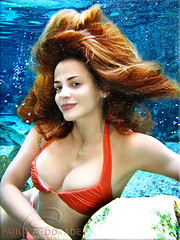 a Siren arises (_Paula AnDDrade) Tags: blue light shadow red wild summer brown white color beach me pool beautiful beauty face hair underwater gorgeous awesome joy dream stunning hugs maravilhosa mermaid soe sirena sereia thephotographer 50faves youmademyday paulaanddrade