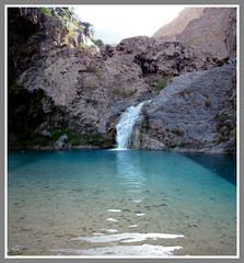 Waterfall (Commoner28th) Tags: blue pakistan panorama lake afghanistan reflection travelling history tourism waterfall iran ahmed bolan chaman csa pir agha quetta waseem commoner sibi ghaib baluchistan pirghaib kommoner commoner28th