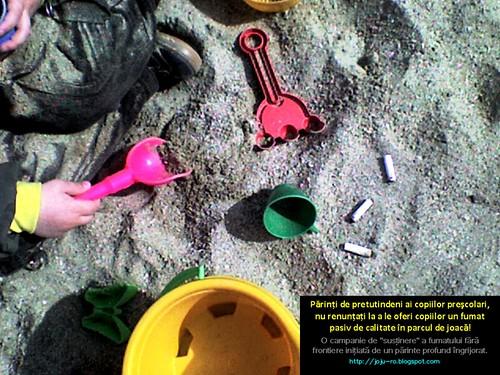 Campanie antifumat in parcurile de joaca pentru copii