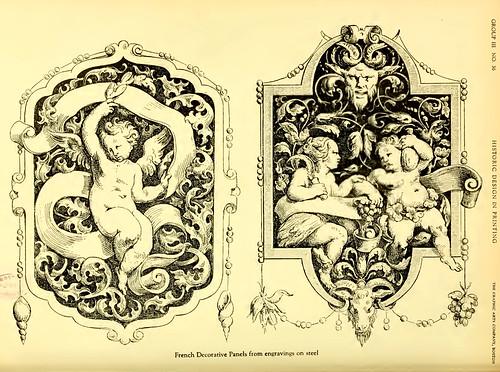 15- Paneles decorativos franceses para grabados en acero